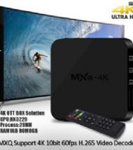 ANDROID TV MXQ-4K SP-B4K 1GB+8GB
